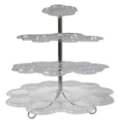 4 Tier Plastic Cupcake Stand - Up to 24 Cupcake Holder Stand