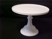 25.4cm White Milk Glass Cake Stand Plate Bakery Grade