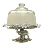 Arthur Court Elephant Footed 20.3cm Plate with Glass Dome