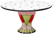 Appletree Design Cake Stand, 24.1cm Long, Plate Detaches from Base