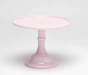 30.5cm Grand Bakers Cake Stand Pink Milk Glass Bakery Diner