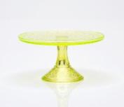 Mosser Glass Queen Cake Stand in Vaseline