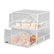Rosseto BAK2231 2-Drawer Acrylic Bakery Display Case, Clear