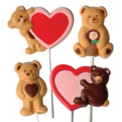 Make N' Mould 3077 Dress My Cupcake Bear and Heart Lollipop Candy Mould