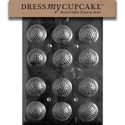 Dress My Cupcake DMCS051 Chocolate Candy Mould, Golf Balls 3D