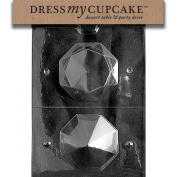 Dress My Cupcake DMCW026 Chocolate Candy Mould, Large 3D Diamond, Wedding
