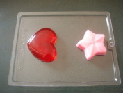 HEART AND STAR SOAP MAKING mould