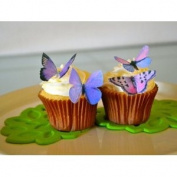 Edible Butterflies © - Small Purple Set of 24 - Cake and Cupcake Toppers, Decoration