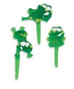 Puffy Frog Cupcake Picks - 12ct