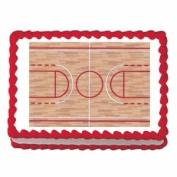 Basketball Court ~ Edible Image Cake / Cupcake Topper