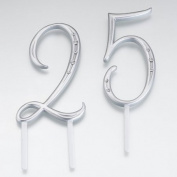Silver Monogram Cake Number Cake Topper - 2 numbers
