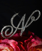 Victorian Crystal Rhinestone Cake Topper - Large Letter N