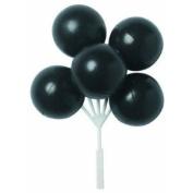 Bag of 12 ~ Black Balloon Cluster Picks ~ Cake / Cupcake Topper