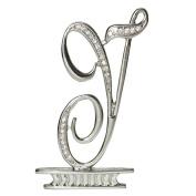 Ivy Lane Design Monogram Crystal Cake Top Letter Y, Silver, 7.6cm