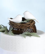 Lillian Rose CT220 W Love Birds Cake Pick White