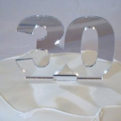 30 Cake Topper Silver Acrylic Mirror - Large