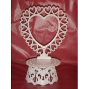 Cake Top Stand Accessories Plastic Heart with hearts Back & Base