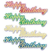 12 ~ Large Happy Birthday Script ~ Designer Cake/Cupcake Topper ~ NEW ~ LOOK!!!