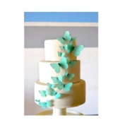 Edible Butterflies © - Tiffany Blue Set of 15 - Cake and Cupcake Toppers, Decoration