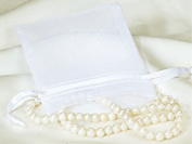 3x4 White Organza Wedding Party Favour Bags- Package of 100