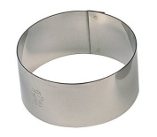 Paderno World Cuisine Pack of 6 Round Stainless Steel Pastry Rings, 4.1cm