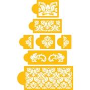 Designer Stencils Martha Stewart's Damask Cake 5-tier Set Cake Stencils