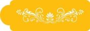 Designer Stencils Fleur de Lis Cake Stencil Side