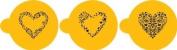 Designer Stencils Swirl Valentine Heart Cookie Stencils