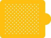 Designer Stencils Mini Polka Dot Cake Stencil