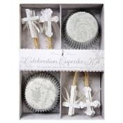 Floral Cross Cupcake Kit