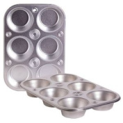 Toaster Oven Size 6-cup Metal Muffin / Cupcake Pan