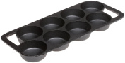 Old Mountain Pre Seasoned 10143 8 Impression Biscuit Pan, 40cm x 16.5cm