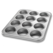 Chicago Metallic Glazed Aluminized Steel 12 Cup Jumbo Muffin Pan