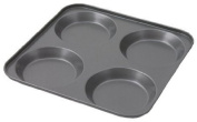 Swift Faringdon Collection Bakers Pride Non-Stick 4 Cup Yorkshire Pudding Pan Carbon Steel 23.5 cm x 23.5 cm x 2 cm.