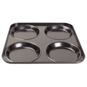 Vogue Non-Stick Yorkshire Pudding Tray - 23mm Deep. 4 cup.