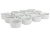 BIA Cordon Bleu - Set of 12 - 240ml Porcelain Ramekins - 10.2cm diameter