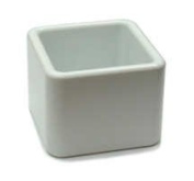 Gessner Products IW-1923-WH 60ml Square Ramekin-Sugar Cube- Case of 12