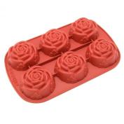 Freshware 6-Cavity Mini Rose Mould and Baking Pan