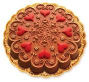 Zanda Panda 22.9cm Kaleidoscope Heart Mould, Bright Red