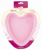 Queen Of Cakes Silicone Heart Shaped Baking Cake Case - Dishwasher Freezer & Oven Safe