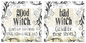 Good Witch Bad Witch Drink Coasters - 2 of Each