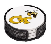 Absorbent Coaster Gift Set Georgia Tech - Coordinating Holder Included