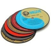 Vintage LP Record Coasters - Set of 6