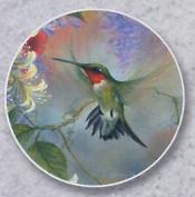 Hummingbird & Honeysuckle Auto Coaster - Single Coaster for Your Car