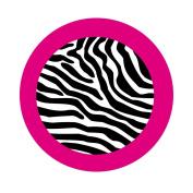 Zebra Print Car Coasters - Set of 2