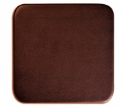 Dacasso Chocolate Brown Leather Square Coaster