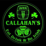 4x ccpa1621-g CALLAHAN'S Irish Shamrock Pub Ale Bar Beer Etched Engraved 3D Coasters