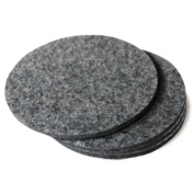 Felt Coasters 10.2cm Diameter, Natural Grey