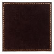 Faux Leather Coaster Colour: Brown. Dimensions