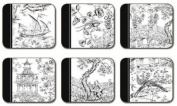 Chinoiserie Toile - Set of 6 Coasters